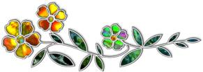 Aromatherapy Stained Glass Flower & Herb Divider