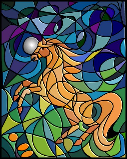 Fairy Tale Illustration the Golden Horse by Starfields