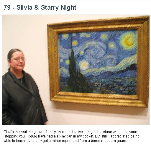 Starry starry night - great painting, the picture was taken under duress