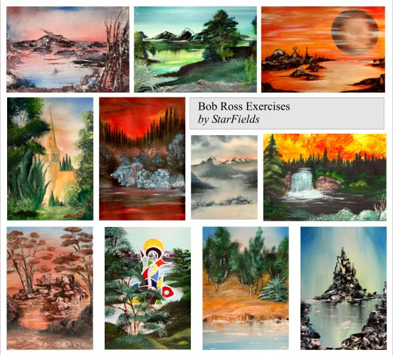 Bob Ross Paintings Exercises by StarFields