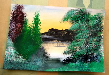 Bob Ross The Joy Of Paining Inspires An Exercise Within Minutes!