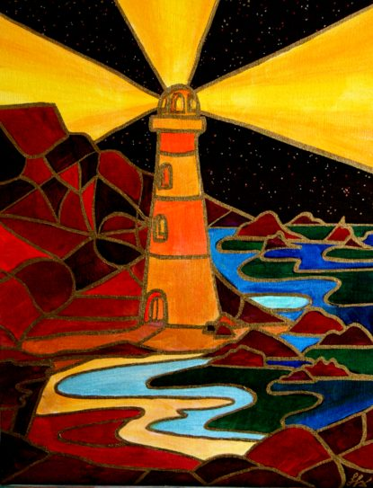 Lighthouse - Acrylics painting by SFX 2006